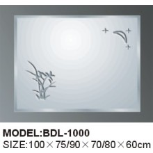 Miroir en verre argenté épaisseur 5 mm (BDL-1000)