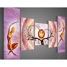 Абстрактные руки окрашенные фигуры живописи