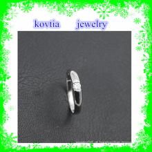 Anéis de casamento baratos do diamante da jóia de prata 925 da venda quente para o anel de prata italiano do casamento original das mulheres
