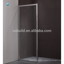 K-562 frameless sliding shower screen, low price 8MM tempered shower enclosure room shower screen hinges