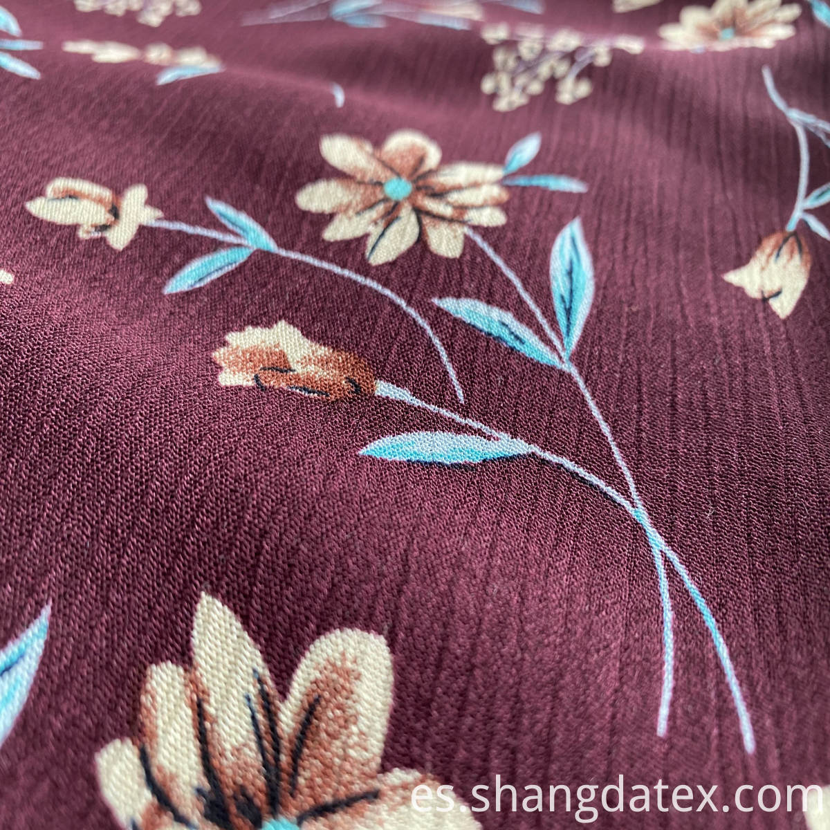 shaoxing suppliers crepe rayon print