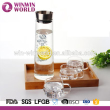Wholesale Clear Borosilicate Glass Water Pitcher With Filter
