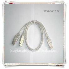 USB-Kabel USB 2.0 3A Kabel 2 in 1 USB 2.0 A bis A 3A Stecker Strom / Daten Y Kabel FÜR HARD DISK TREIBER