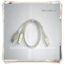 Кабель USB Кабель USB 2.0 3A Кабель 2 в 1 USB 2.0 A - A 3A Кабель питания / данных Y для жесткого диска