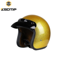 Half Face Golden Motorcycle Helmet for Motorcycle Spare Parts