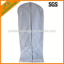 Foldable long bridal wedding dress cover with zipper