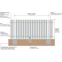 Esgrima Palisade (galvanizado ou revestido de PVC)