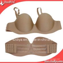 Lace Design Tissu Strapless Adhesive Hot Bra (DYSUP-001)