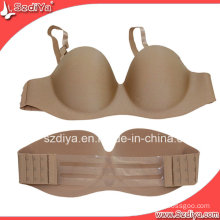 Lace Design Cloth Strapless Adhesive Hot Bra (DYSUP-001)