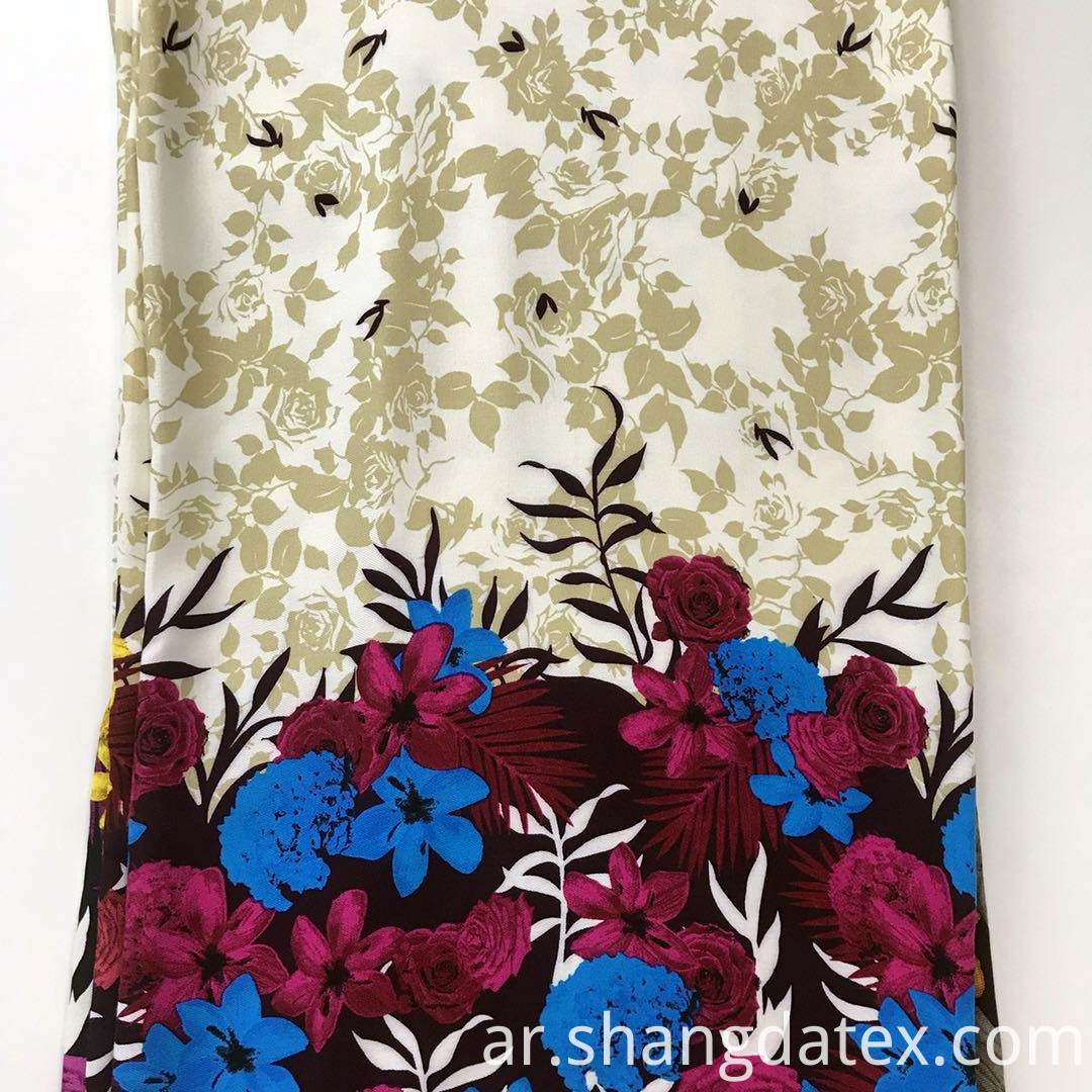 flower broder twill rayon fabric