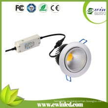5500k-6500k Epistar 10W LED Downlights de baño LED