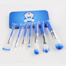 Wholesale 7PCS Doraemon Cute Makeup Brush Set with Blue Metal Box