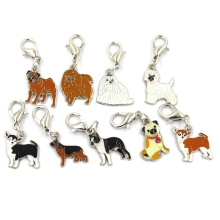 Bijoux en métal en alliage en acier inoxydable Dog Chamrs Pendentif