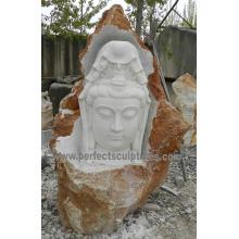Stein Marmor Granit Buddha für Feng Shui Skulptur Statue (SY-T144)