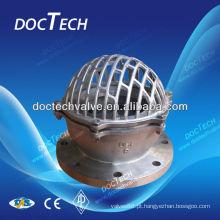 Válvula de fundo de aço inoxidável fabricada na China