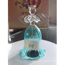 Decoration Blue Color Hanging Glass Bell