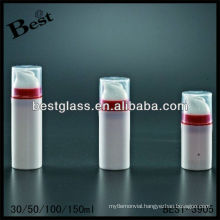 30/50/100/150ml cosmetic airless bottles, round shape, offer customizing the color