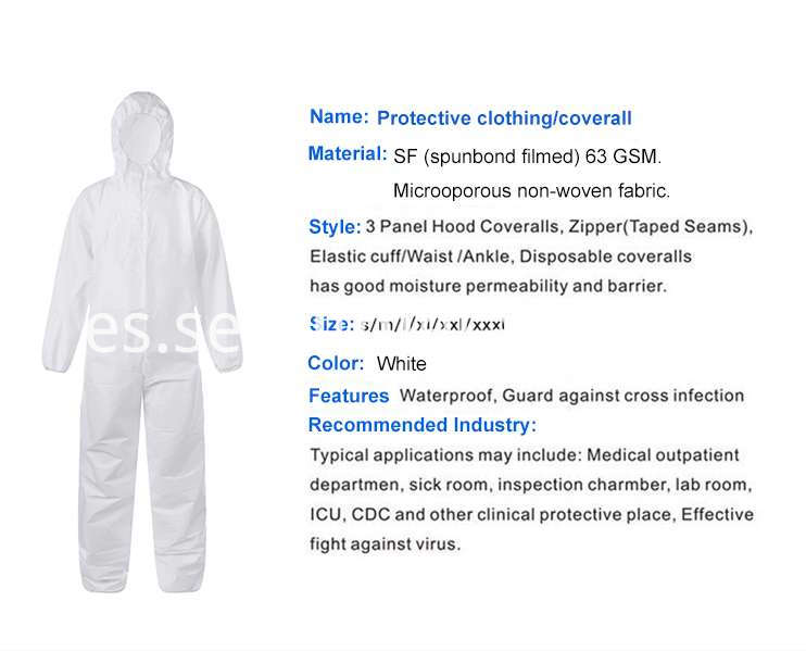 isolation protection suit disposable coverall