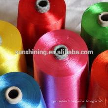 fils de filaments de viscose teints et colorés