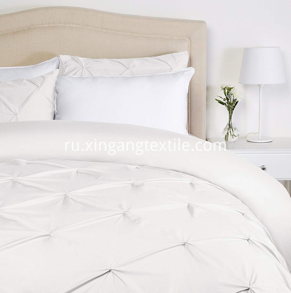 Pinch-Pleat-Brushed-Microfiber-Bedding-Set white