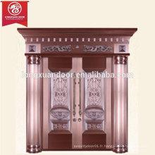 Fabrication Custom Luxury Villa Bronze Door, Double Swing Copper Door