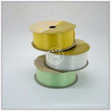 Gesponnene Farbsatin-Band-Rollen benutzt für das Verpacken und das Drucken