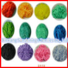 100% Viskose Stapelfaser gefärbt
