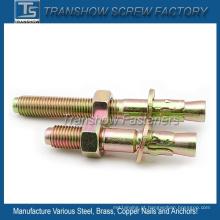 M10 * 100 Aço Carbono Amarelo Zincado Wedge Anchor