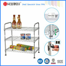 Rack multifuncional de prateleira de cozinha de arame de metal cromado com aprovação NSF