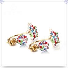 Fashion Jewellery Crystal Jewelry Stainless Steel Earring (EE0241)