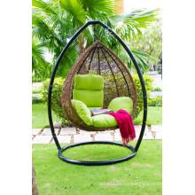 El más vendido diseño de polietileno Rattan hamaca - Egg Swing silla para muebles de mimbre de interior y al aire libre