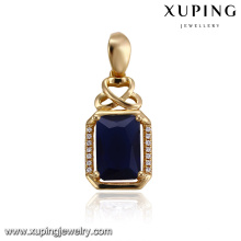 32915 Wholesale fancy women jewelry rectangle shaped colorful gemstone pendant