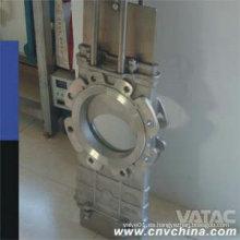 Lug termina Wcb / CF8 / CF8m a través de la válvula de compuerta de la puerta del cuchillo