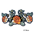 Patch di fiori ricamo 3d applique arancione