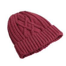 Winter Red Blank Beanie Hat