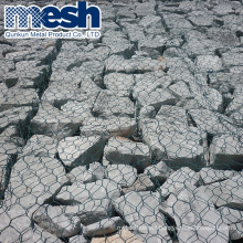 Hot Sell 4mm plastic coated wire mesh gabion used for slope support