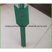 Verde Pintado Studded T Post com pá para Jardim / Vinha