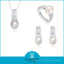 Ensemble de bijoux en argent de luxe avec CZ (J-0179)