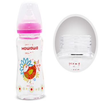 5oz Glass Feeding Bottle Bayi Tanpa Gagang