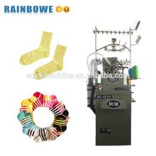 Chaîne de production de chaussette monocylindrique entièrement informatisée industrielle pour faire des chaussettes de coton