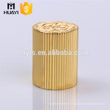 bouchon de parfum zamac cylindre d'or