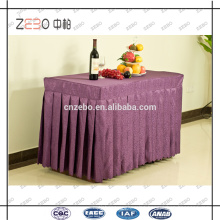 High Grade Jacquard Fabric Rectangle Banquet Table Skirts Wholesale