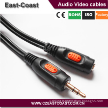New design 3.5mm stereo male to female extend aux cable
