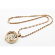 Hot Sale Rose Gold Plating Living Locket Collier