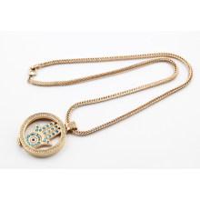 Hot Sale Rose Gold Plating Living Locket Necklace