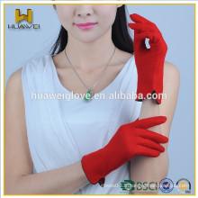 Vente en gros Écran tactile pour femme Gants en laine rouge à laine