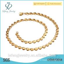 Alta qualidade homens moda design simples colar de corrente de ouro