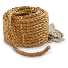 Wholesale 5mm 3 Strand Twisted Corrosion Protection Natural Hemp Rope