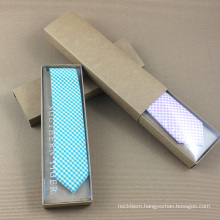 Handmade Craft Paper Hot Stamped Custom Logo Silk Necktie Gift Box