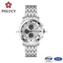 Inox 316L acier inoxydable Quartz Chronograph Watch pour hommes